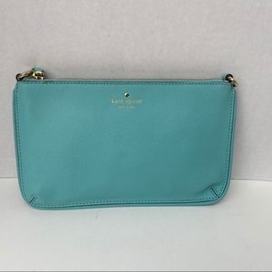Kate Spade Teal zippered pouch